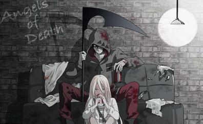 Rachel gardner and zack black and white anime