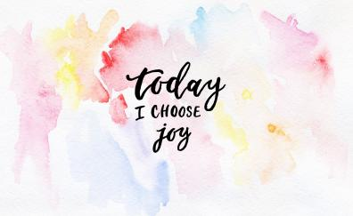 Colorful, typography, joy, abstract