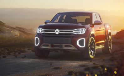 Volkswagen atlas tanoak pickup truck concept new york auto