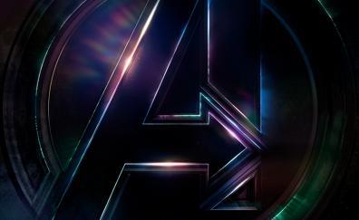 Avengers: infinity war, 2018, movie, logo, dark