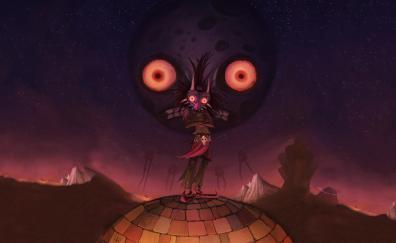 Skull kid the legend of zelda artwork