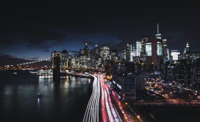 New york city night buildigs