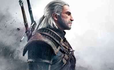 Geralt of Rivia, The Witcher 3: Wild Hunt, video game, warrior
