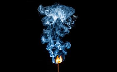 Matches fires smoke 4k