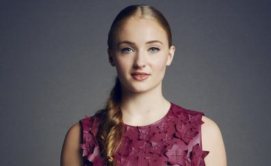 Sophie turner, marie claire, smile, 2018