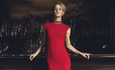 Mackenzie davis red dress