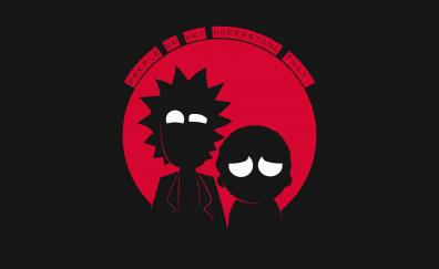 Minimal, rick and morty, tv show, dark