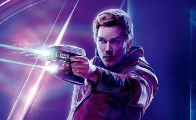 Avengers infinity war chris pratt peter quill star lord 4k