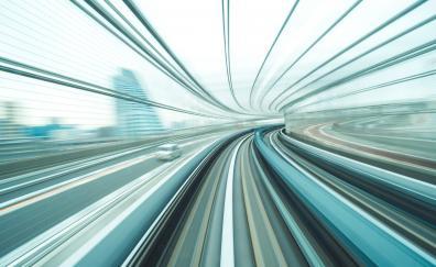 Freeway, motion blur, road