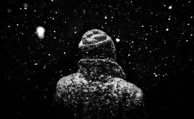 Monochrome winter snow