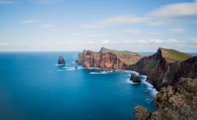 Landscape blue sea coast