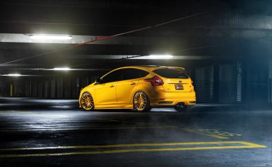 Parking lot ford focus rs