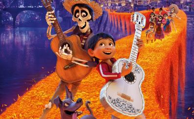 Coco, animation movie, dance, ghost, 2017