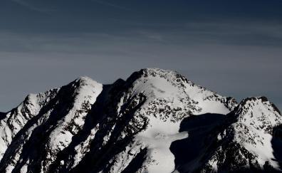 Mountain, summit, glacier