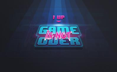 Game over, 1 Up, art