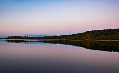 Lake reflections autumn dawn nature