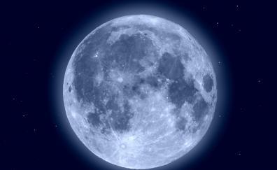 Blue moon shining
