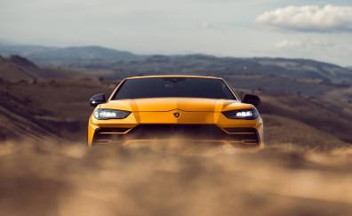 Yellow, front, Lamborghini Urus