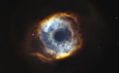 Helix nebula starry sky eye stars galaxy 4k