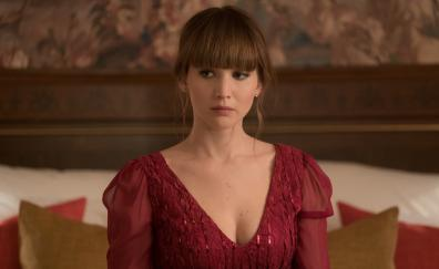 Jennifer lawrence in red sparrow movie 4k