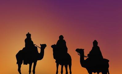 Epiphany, camel, silhouette, minimal