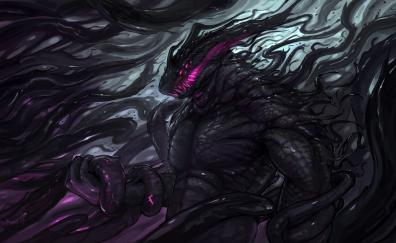 Dark creature monster art 4k