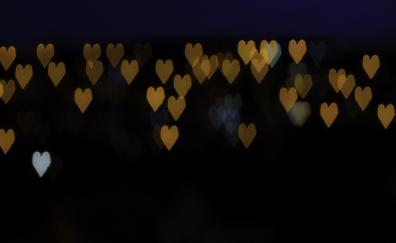 Bokeh hearts 4k