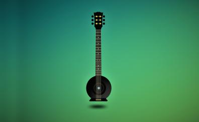 Music, guitar, minimal, art