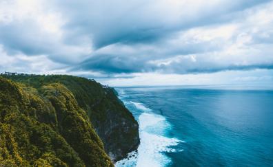 Coast landscape shore