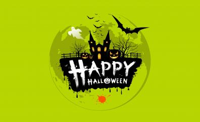 Halloween minimal digital art