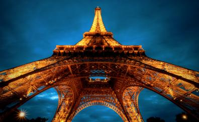 Eiffel tower paris architecture night