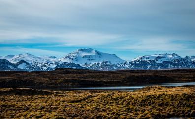 Mountains, glacier, landscape, nature