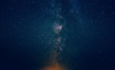 Night sky stars milky way 4k