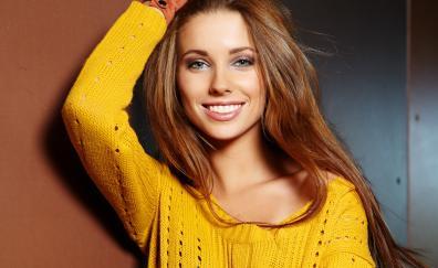 Smile beautiful woman brunette