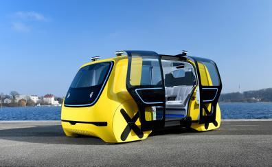Yellow volkswagen sedric concept car