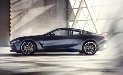 Side view bmw concept 8 series car 2018