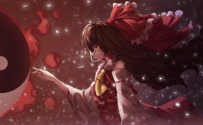 Reimu Hakurei, Touhou, beautiful, art