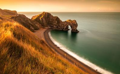 Durdle Door, arch, coast, sea