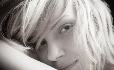 Beautiful smile sepia woman model