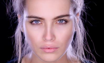 Reflections in eyes girl model