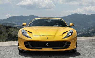 Yellow sports car ferrari 812 superfast