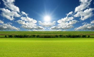 Clouds beautiful scenery landscape