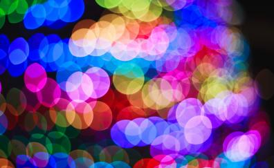Circles, colorful, overlapping, bokeh
