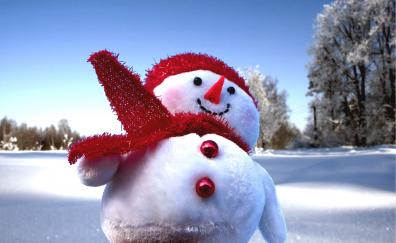 Snowman winter fun holiday