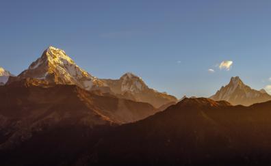 Annapurna mountains horizon