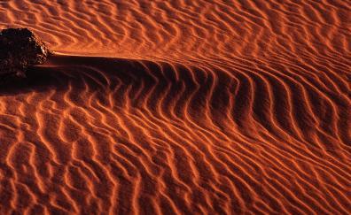 Aerial view, desert, sand