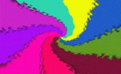 Colorful swirl digital art dots
