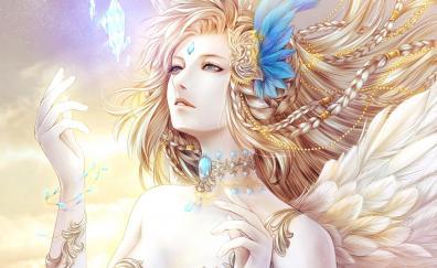 Fantasy queen woman blonde