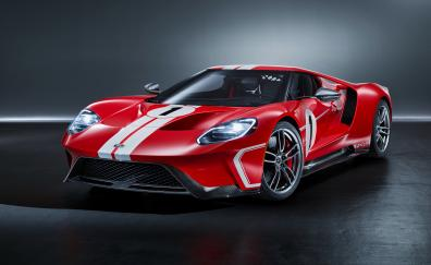2018 Ford Gt '67 Heritage Edition, Red Sports Car