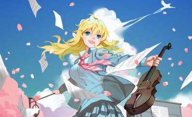 Artwork anime girl kaori miyazono